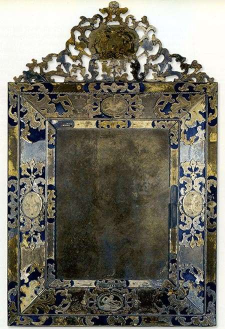 Mercury mirror for 17th century mirrors