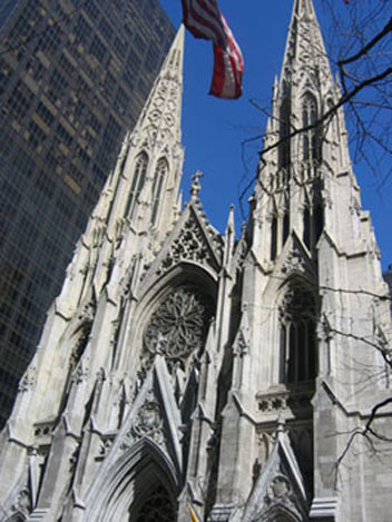 Neo Gothic Facade Of Saint Patricks Cathedral New York 1885 1888 James Renwick Jr