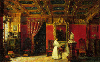 Princess Marie DOrleans Neo Gothic Living Room At The Tuileries By Prosper Lafaye 1842 Paris Painter Placed Mary Before Her