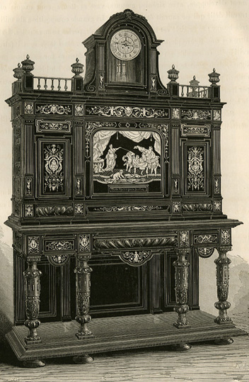 Piece Of Ebony Furniture, Encrusted In Ivory, Renaissance Style, By  Hunsinger, Worldu0027s Fair Of 1867.