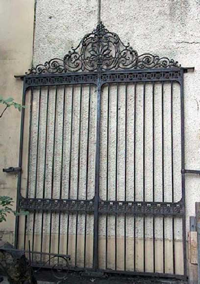 Door gates in cast iron and wrought iron. - Reference 0031