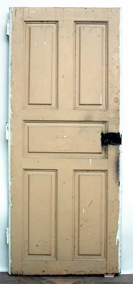 Oak Door with moldings on both sides-6