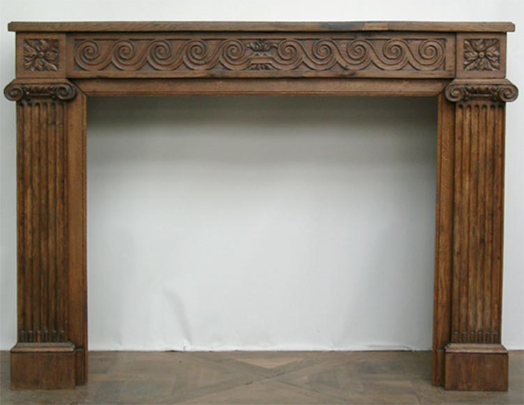 Oak architectural mantel  - Reference 0136