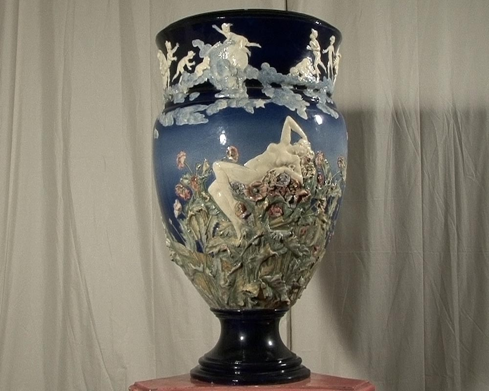 CARRIER BELLEUSE Louis Robert, Extraordinary vase with Urania , science allegory.-1