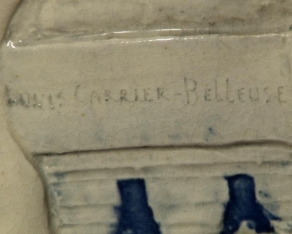 CARRIER BELLEUSE Louis Robert, Extraordinary vase with Urania , science allegory.-7