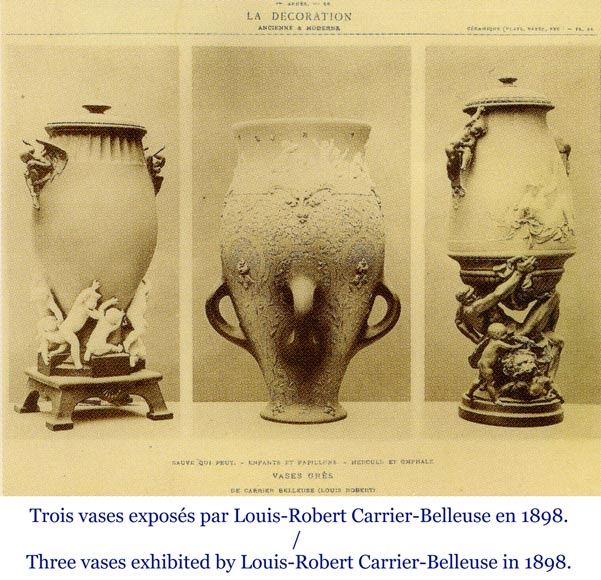 CARRIER BELLEUSE Louis Robert, Extraordinary vase with Urania , science allegory.-11