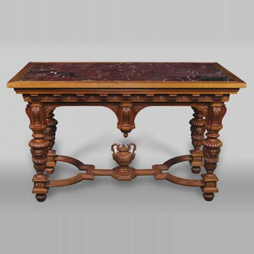 The Table Coming From An Exceptional Furniture Set Realized By Moses  Michelangelo Guggenheim For The Palazzo