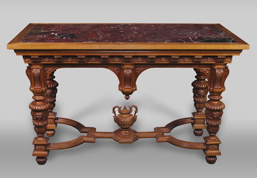 The table coming from an exceptional furniture set realized by Moses Michelangelo Guggenheim for the Palazzo Papadopoli in Venice,  Italy - Reference 03165