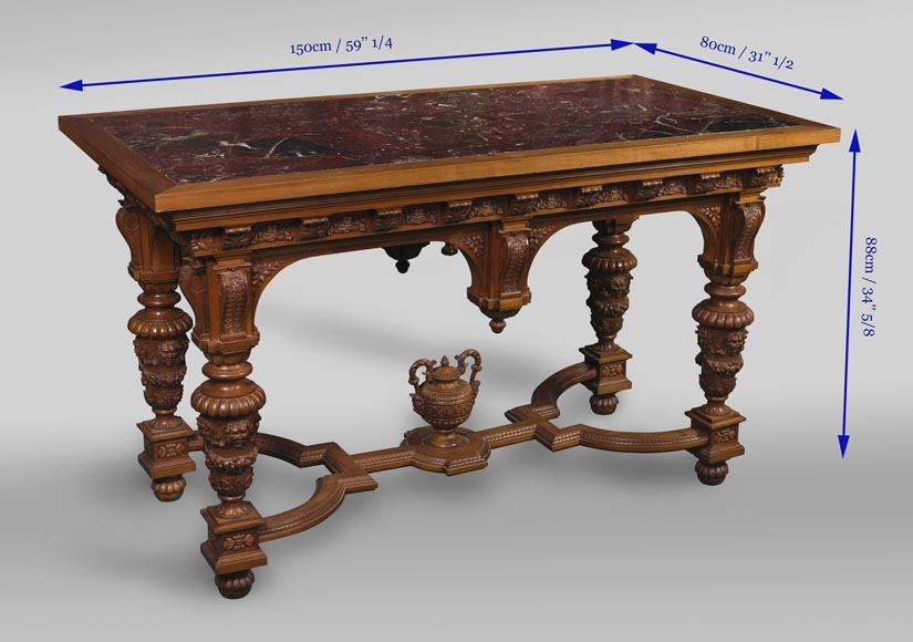 The table coming from an exceptional furniture set realized by Moses Michelangelo Guggenheim for the Palazzo Papadopoli in Venice,  Italy-11