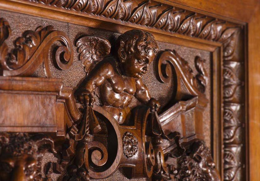 A sumptuous sculpted credenza coming from an exceptional furniture set realized by Moses Michelangelo Guggenheim for the Palazzo Papadopoli in Venice, Italy-10