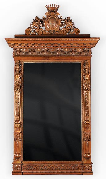 The Monumental Mirror Coming From An Exceptional Furniture Set Realized By  Moses Michelangelo Guggenheim For The ...
