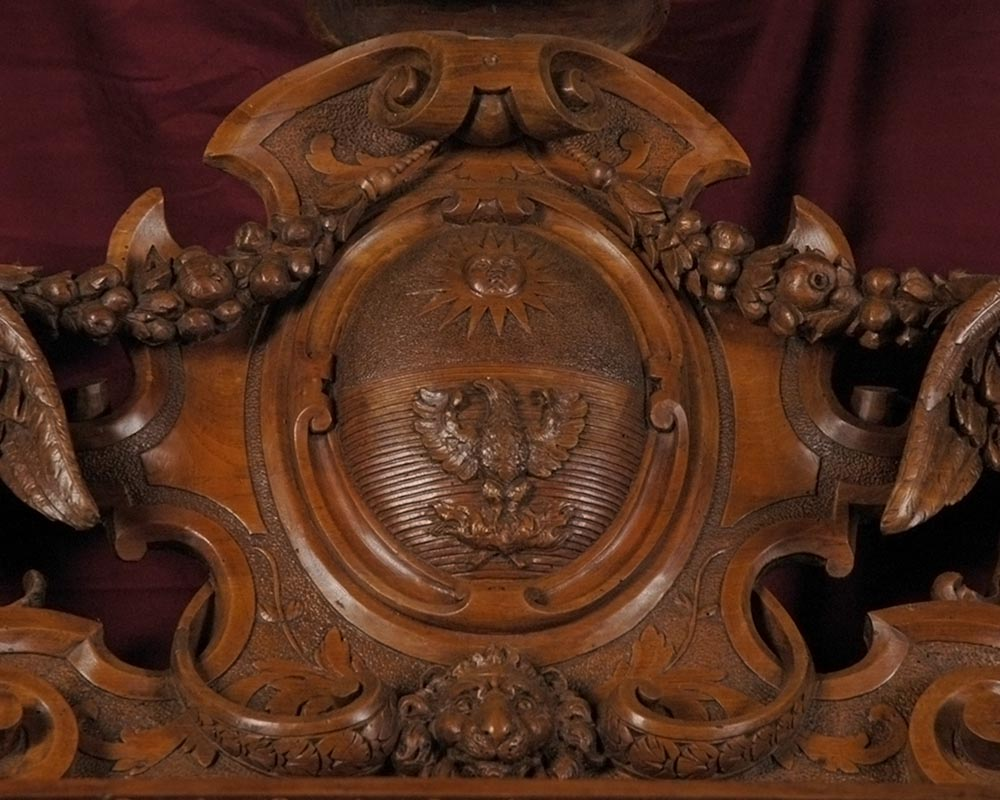 ... The Monumental Mirror Coming From An Exceptional Furniture Set Realized  By Moses Michelangelo Guggenheim For The ...
