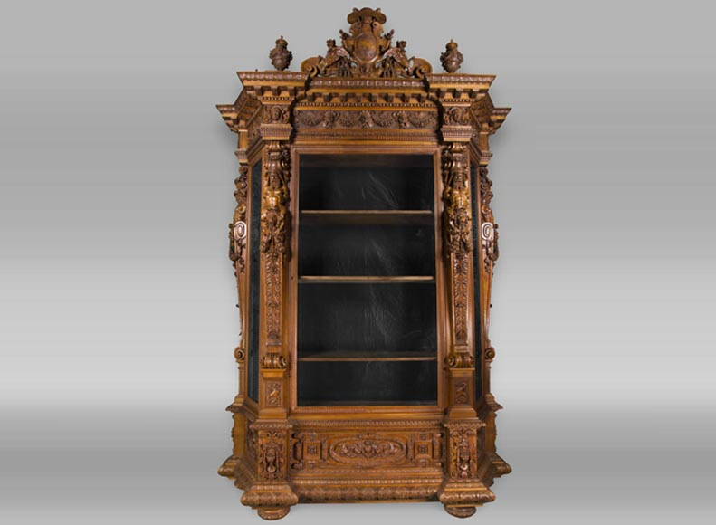 A monumental Display Cabinet coming from an exceptional furniture set realized by Moses Michelangelo Guggenheim for the Palazzo Papadopoli in Venice, Italy-0