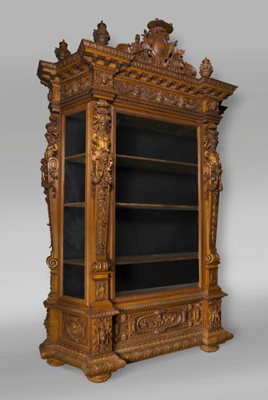A monumental Display Cabinet coming from an exceptional furniture set realized by Moses Michelangelo Guggenheim for the Palazzo Papadopoli in Venice, Italy-1