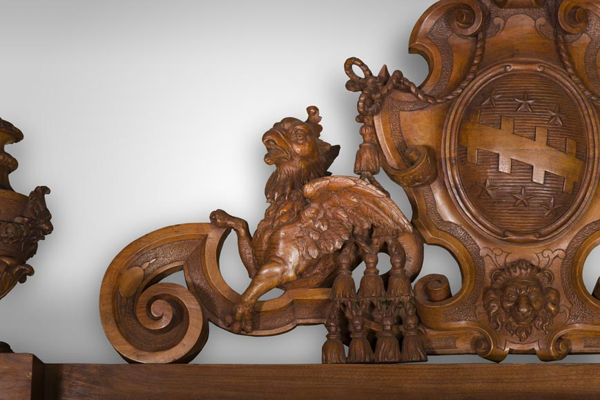 A monumental Display Cabinet coming from an exceptional furniture set realized by Moses Michelangelo Guggenheim for the Palazzo Papadopoli in Venice, Italy