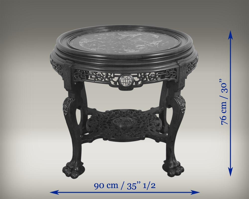 ESCALIER DE CRISTAL (attrib. to), Large central coffee table.-5