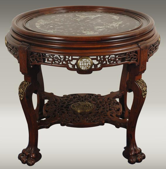 Maison des Bambous de Perret et Vibert (attrib. to), Large central coffee table.-0