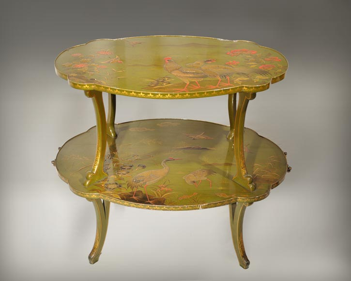ESCALIER DE CRISTAL, Tea table decorated with Japanese-lacquer-1