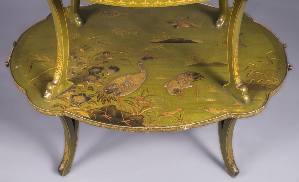 ESCALIER DE CRISTAL, Tea table decorated with Japanese-lacquer-5