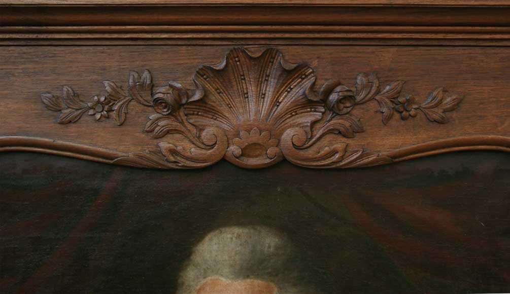 Oak fireplace with portrait of a gentleman-6