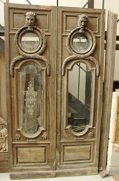 Monumental double door with fantastic decor - Reference 0664
