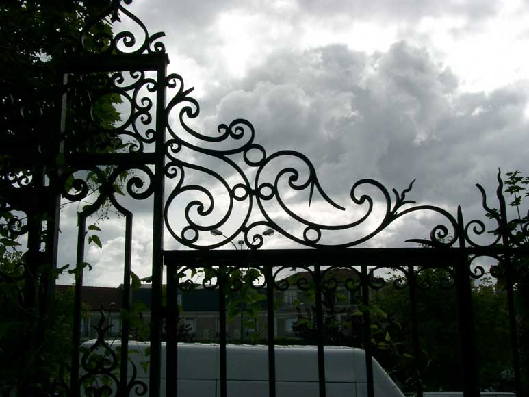 Wrought iron gate with 20 meters of railing-5
