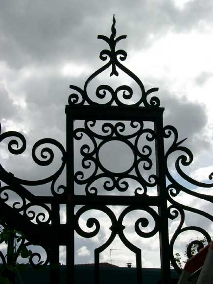Wrought iron gate with 20 meters of railing-6