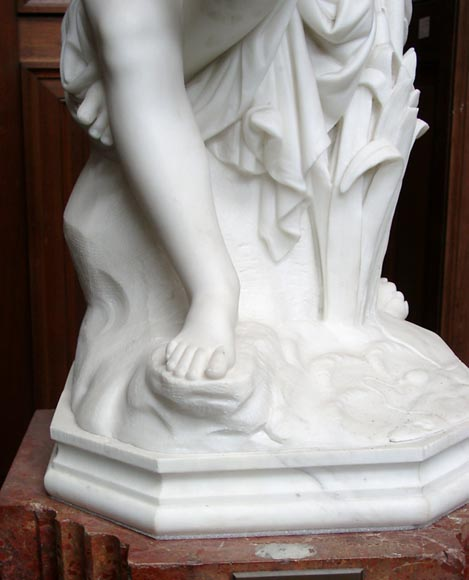 « LE PETIT PECHEUR » Marble Statue  by Janson exhibited at the Salon of 1859-3