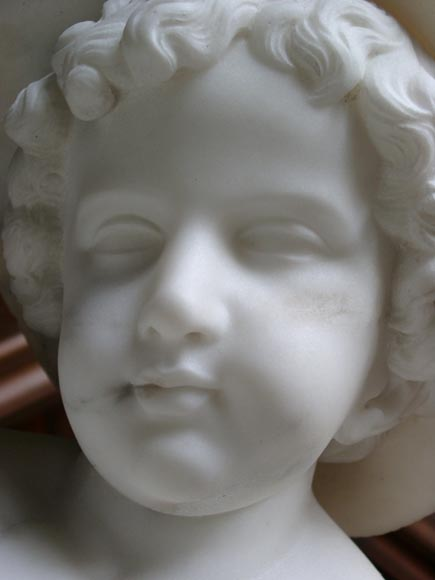 « LE PETIT PECHEUR » Marble Statue  by Janson exhibited at the Salon of 1859-7
