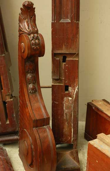 Mahogany newel post and staircase late 19th century.-14