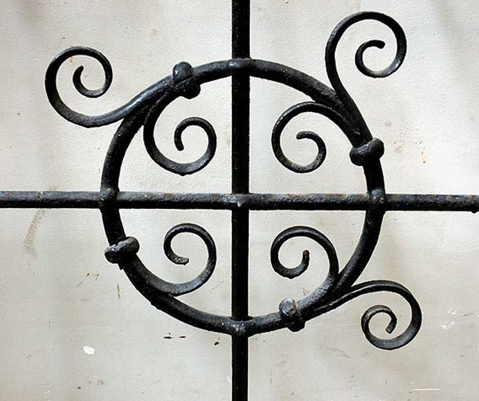 Pair of square wrought iron windows-4