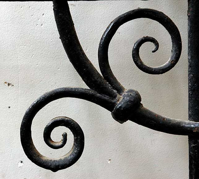 Pair of square wrought iron windows-6
