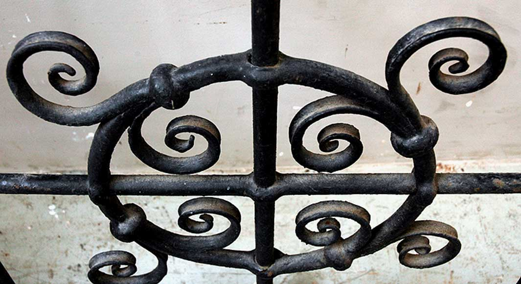 Pair of square wrought iron windows-7