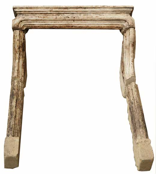 Stone fireplace mantel from the 18th century-0