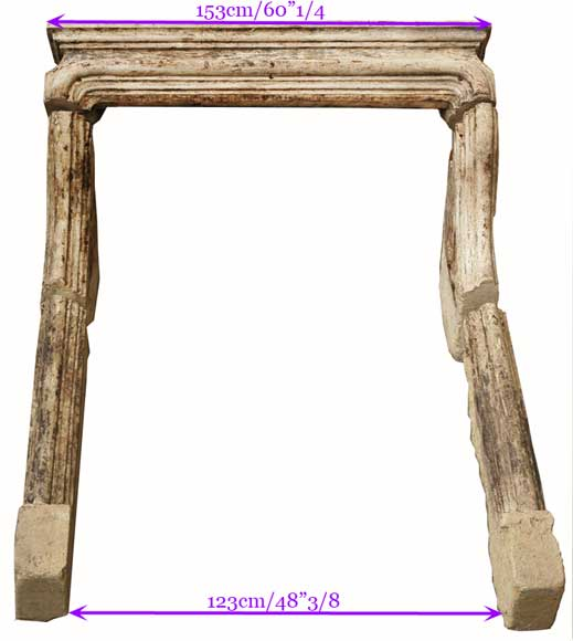 Stone fireplace mantel from the 18th century-10