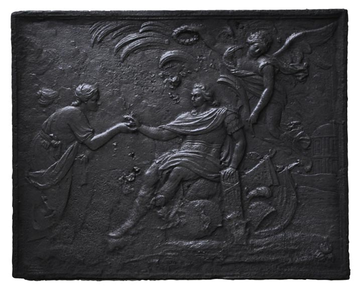 """The King"", antique 18th century fireback - Reference 10066"