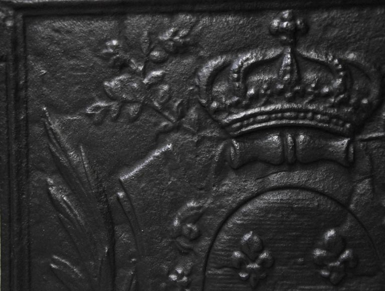 Antique 18th century fireback with the French coat of arms-4