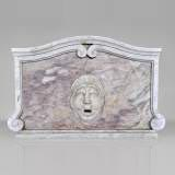 Fountain pediment in Carrara and Fleur de Pecher marbles