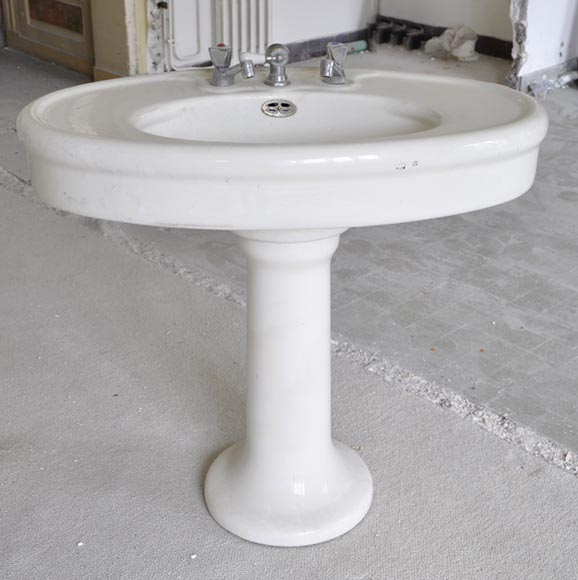 Antique earthenware pedestal sink - Reference 10151