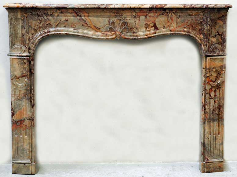18th century Sarrancolin marble Louis XV mantel  - Reference 1019