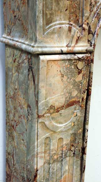18th Century Sarrancolin Marble Louis Xv Mantel Marble