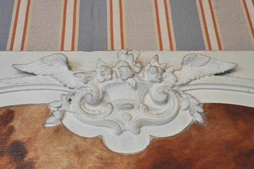 Louis XV style Overmantel depicting putti playing with arrow-3