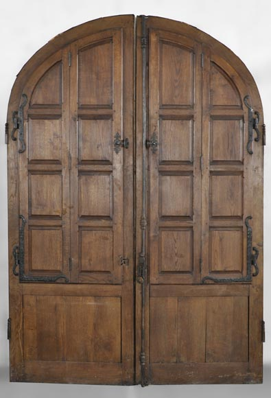 Important pair of doors in oak with flaps-1