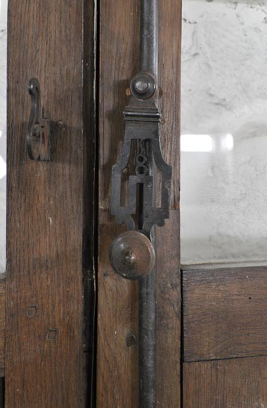 Important pair of doors in oak with flaps-6