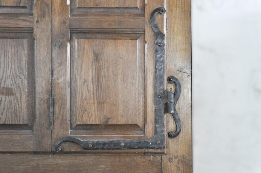 Important pair of doors in oak with flaps-9