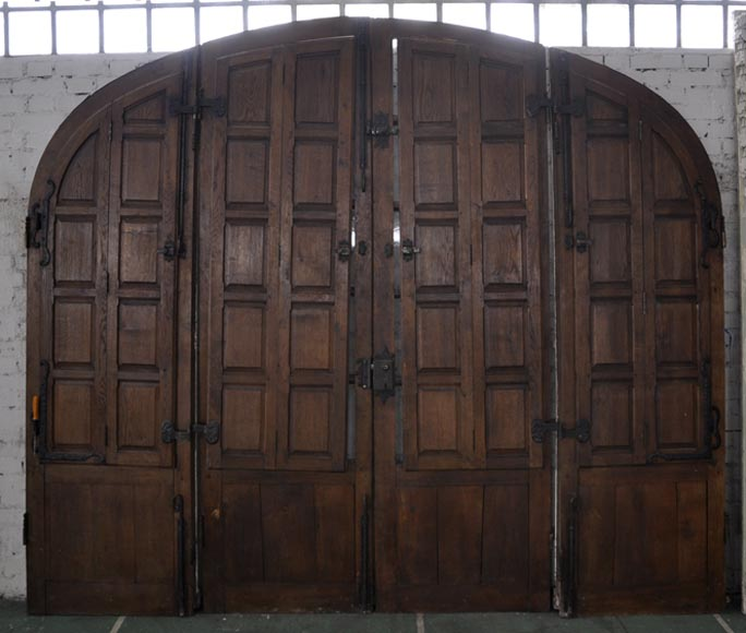 Important quadruple door in oak with flaps & Architectural Exterior - Doors