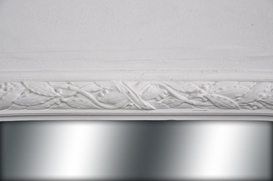 Antique Louis XVI style overmantel with a frieze of laurel and ovals-1