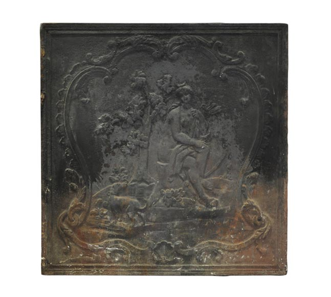 """Diana's bath"", 19th century antique cast iron fireback - Reference 10298"