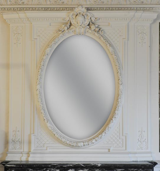 Antique Napoléon III overmantel embellished with a woman's face - Reference 10304