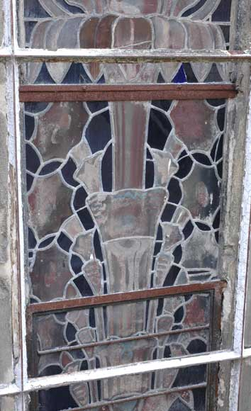 Stained glass windows with floral designs -4
